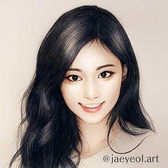 Beautiful Tzuyu of Twice 👑👑 Kpop Drawings, Pencil Art Drawings, Chibi, Twice Fanart, Korean Art, True Art, Kpop Fanart, Pretty Art, Beauty Art