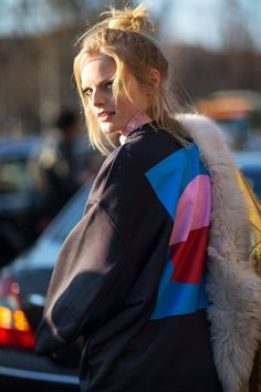 Hanne Gaby Odiele showing us why she's a star in Milan. #MFW