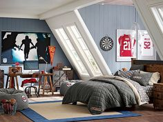 I love the PBteen Emerson Sports Bedroom on pbteen.com