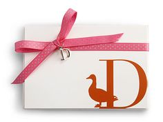 Gorgeous Stationary for Holiday Thank You Notes: Monogram Stationary Card, $10 for 8 cards, C. Wonder.