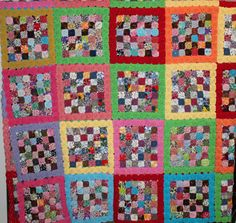 Vintage 1950s yo yo Quilt multi color large by purrfectstitchers, $450.00