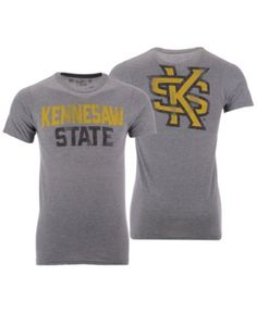 ba0f7839a24 Men s Kennesaw State Owls Team Stacked Dual Blend T-Shirt