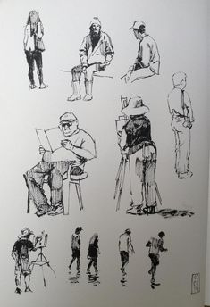 "HaideeJo Summers on is part of pencil-drawings - drawingaugust Day 10 some figure studies in pen today"" Human Figure Sketches, Human Sketch, Human Figure Drawing, Figure Sketching, Urban Sketching, Figure Drawing Tutorial, Drawing Tutorials, Painting People, Drawing People"
