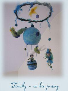 Timothy on his journey  fairy Mobile waldorf por LivelySheep