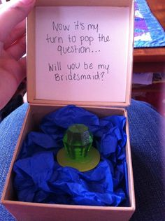 Getting asked to be in someone's big day, especially if it's with one of these magical boxes. | The 28 Most Underrated Parts Of Being A Bridesmaid