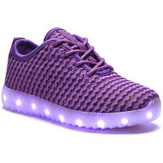 Dream Seek Purple Light-Up Sneaker ($20) ❤ liked on Polyvore featuring shoes, sneakers, laced shoes, lace up sneakers, dream seek shoes, lace up shoes and laced sneakers