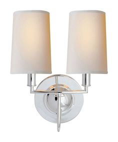 just bought 2 of them for above our fireplace! Visual Comfort - Elkins Double Sconce