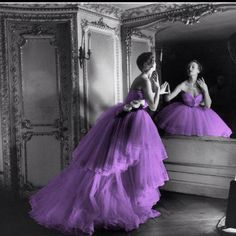 Purple Color Splash Photo: Color splash woman wearing a purple dress. This Photo was uploaded by stephxaknee Purple Stuff, Purple Love, All Things Purple, Shades Of Purple, Purple And Black, Black White, Light Purple, White Pic, Purple Lilac