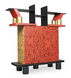 Ettore Sottsass, cabinet Freemont, 1985. Made by Memphis Milano, Italy. Via Leclere