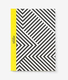 Slim Notebook in Signature Zig Zag