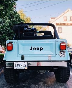 baby blue jeep goes beep beep beep Auto Jeep, Jeep Cars, Jeep Jeep, Old Jeep Wrangler, Jeep Rubicon, Jeep Wranglers, Bmw Cars, Mustang Ford, Vintage Jeep