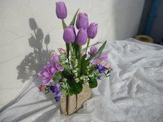 Jarní kytice v březové kůře