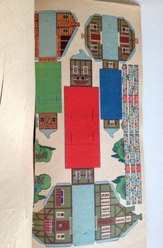 RARE Vintage 1933 Punch Out 24 Paper Houses to Build Put Together Town Whitman | eBay
