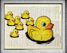 Items similar to Rubber Duck, Bathroom Decor Accessory, Baby Shower Decoration Poster, Rubber Ducky Funny Bathroom Art Kids Wall Art Print, Dictionary Paper on Etsy Rubber Ducky Bathroom, Duck Bathroom, Funny Bathroom Decor, Bathroom Prints, Bathroom Wall Art, Bathroom Ideas, Bathroom Paintings, Bathroom Humor, Bathroom Remodeling