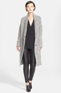 Free shipping and returns on Theory 'Fastrada' Marled Shawl Collar Cardigan Coat at Nordstrom.com. Waffle-knit marled yarns are crafted into a generously long cardigan-coat styled with cozy details like a shawl collar and extra-long sleeves with ribbed turn-back cuffs.