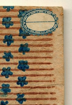 Letterology: The Paper History Mystery http://www.outofbinding.com/galleries/paper_old_books/index.html Coll. Carmencho Arregui