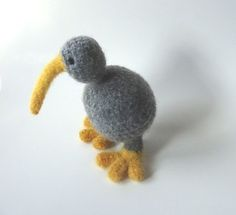Felt Animal for Baby Mobile. Ravelry: Amigurumi Kiwi Bird - Crocheted and Felted pattern by Vicky Lewis
