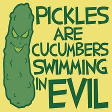 Image result for evil pickles