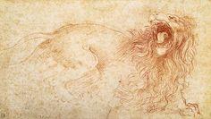 Leonardo+da+Vinci+-+Sketch+of+a+roaring+lion.jpg (550×311)