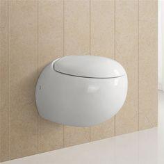 Wandhänge Toilette WC Sitz Tiefspüler Soft Close Hänge Rund Klo Wandmontage