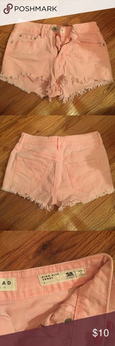 high rise shorts pink high rise shorts from pacsun, size 1. PacSun Shorts Jean Shorts
