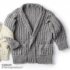 Beautifully textured and cozy, this cardigan is perfect for wearing around the house or paired with a pair of comfy jeans for a casual day out. Crochet this in Caron Simply Soft Tweeds to give it that easy to pair with anything look!