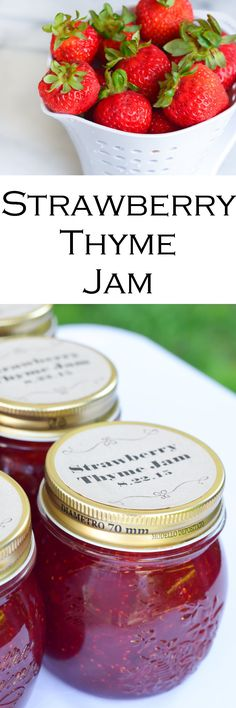 Homemade Strawberry Thyme Jam Recipe