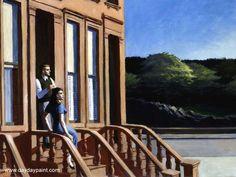 Sunlight on Brownstones 1956