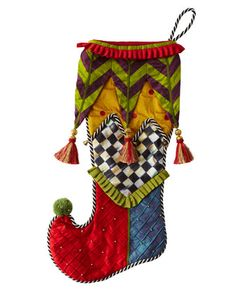 """Court Jester"" Stocking by MacKenzie-Childs at Neiman Marcus."