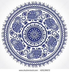 Vintage graphic vector Indian lotus cute ethnic elephant seamless pattern mandala. African tribal ornament. Can be used for a coloring book, textile, prints, phone case, greeting card, business card