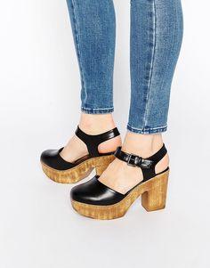 Image 1 ofTruffle Collection Camari Platform Clog Heeled Shoes