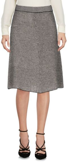 STEFANEL Knee length skirts - STEFANEL Knee length skirts. lightweight sweater, knitted, two-tone pattern, no appliqués, no pockets, no fastening, unlined, trapeze dress. 45% Wool, 26% Acrylic, 14% Viscose, 10% Polyamide, 5% Cashmere
