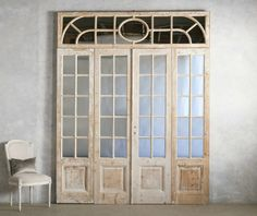 THis LOOK:    Architectural Chateau Doors Mirrored Bleached Pine $5550
