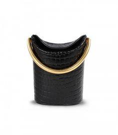 Stella McCartney Black Alter Croc Shoulder Bag