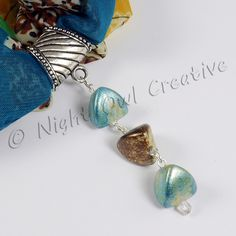 Silk Blend Chiffon Scarf Set with Limited Edition Handcrafted Slider Pendant - Scarf included £9.50
