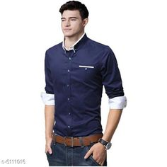 Checkout this latest Shirts Product Name: *Men's Stylish Shirts * Fabric: Cotton Sleeve Length: Long Sleeves Pattern: Solid Multipack: 1 Sizes: S (Chest Size: 36 in, Length Size: 27 in)  M (Chest Size: 38 in, Length Size: 27 in)  L (Chest Size: 40 in, Length Size: 27 in)  XL (Chest Size: 42 in, Length Size: 27 in)  Country of Origin: India Easy Returns Available In Case Of Any Issue   Catalog Rating: ★4 (468)  Catalog Name: Trendy Fashionable Men Shirts CatalogID_753829 C70-SC1206 Code: 573-5111016-2601