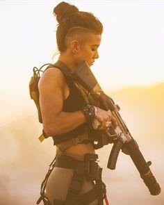 Home - Gun and Shooter - Shooting Guns & Having Fun Samurai, Apocalyptic Fashion, Shooting Guns, Warrior Girl, Warrior Women, Military Girl, Military Women, Female Soldier, Badass Women
