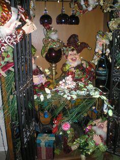 Mark Roberts Elves in my Wine Cabinet - little rascals!