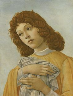 Sandro Botticelli - An Angel, Head and Shoulders, 1500.