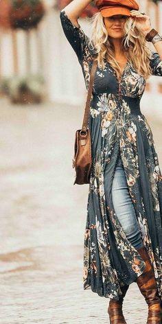 The Trendy Boho Outfits That Always Look Fantastic The Trendy Boho . The Trendy Boho Outfits That Always Look Fantastic The Trendy Boho Outfits That Always Look Fantastic outfits for teenage girl Boho Fashion Winter, Look Fashion, Bohemian Fashion, Boho Fashion Over 40, Bohemian Outfit, Fashion Shoes, Sporty Fashion, Fashion Outfits, Womens Fashion