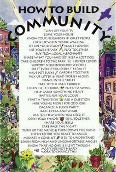 This could definitely be used for a bulletin board about how to build community in your hall! Love this!