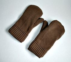 Recycled Cotton Mittens-Toupe-Lined with by allwrappedupandmore
