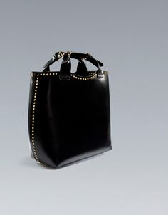 PLAITED SHOPPER WITH STUDS - Handbags - Woman - ZARA