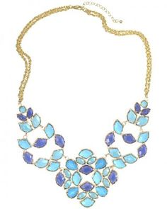 Kendra Scott Grayce Statement Necklace in Iris...I could spend SO much money on her website!