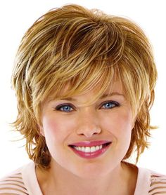 Short Shaggy Hairstyle for Blond Hair