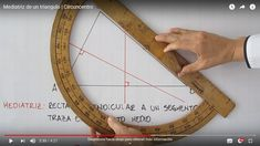 Recomendaciones sencillas para trazar las mediatrices de un triángulo y sus características. Grid, Dots