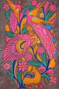 mexican art on mulberry paper