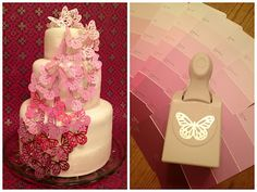OMBRE BUTTERFLY DECORATION