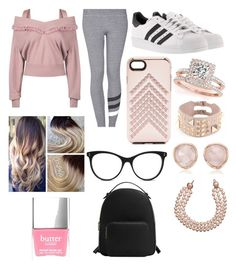 """Pink And All"" by ashleyannmcd on Polyvore featuring Burberry, Sundry, adidas, Rebecca Minkoff, Allurez, Valentino, Chanel, STELLA McCARTNEY, Monica Vinader and MANGO"