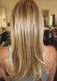 highlights - caramel/honey hair
